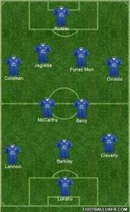 Everton First Half