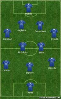 Everton Second half