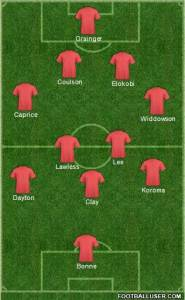 Orient vs Maidstone (home) changes