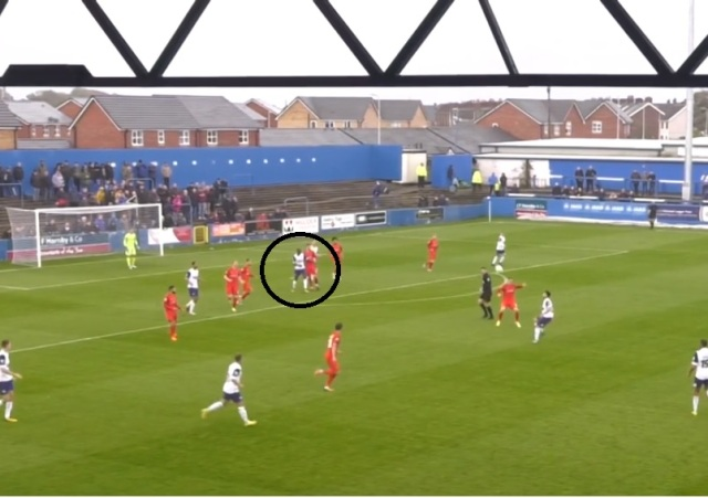 Caprice Dodgy marking at Barrow