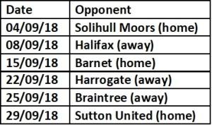 Orient next 5 games