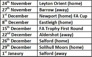 Wrexham Next 6 Games
