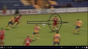 Exposing wide center back 2nd goal